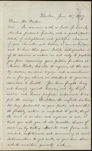 Letter from William Lloyd Garrison, Boston, [Mass.], to Theodore Parker, Jan. 15, 1859