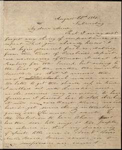 Letter from Deborah Weston, [Boston, Mass.], to Anne Warren Weston, August 22'd, 1840, Saturday