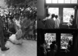 Images of a demonstration at Alabama State College in Montgomery.