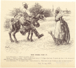 African American man on horse talking to an African American woman