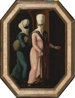 A Turkish Lady Going with her Slave to the Bath