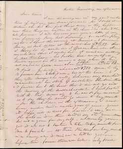 Letter from Caroline Weston, Boston, [Mass.], to Anne Warren Weston, Wednesday afternoon, [1839?]