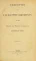 Executive and legislative documents of the State of North Carolina [1883]