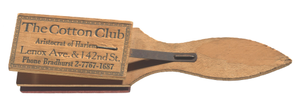 Wooden clapper from the Cotton Club promoting Ethel Waters