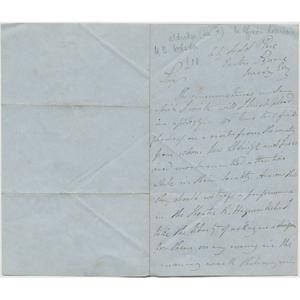 Letter from Ira Aldridge to B. Webster