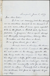 Letter from William Lloyd Garrison, Liverpool, [England], to Mary Anne Estlin, 1877 June 5