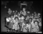 Children after receiving smallpox vaccinations at Ann Street School in Los Angeles, Calif., 1949
