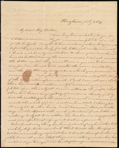 Letter from Evelina A. S. Smith, Hingham, [Mass.], to Caroline Weston, July 3, 1837