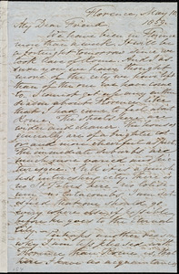 Letter from Samuel Joseph May, Florence, [Italy], to Caroline Weston, May 10, 1859