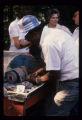 Bud Garrett making marbles