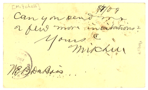 Letter from George W. Mitchell to W. E. B. Du Bois