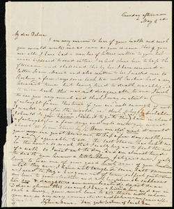 Letter from Sylvia Ann Ammidon to Deborah Weston, Tuesday afternoon, May 3rd, [1836?]