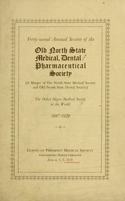 Program of the ... annual session of The Old North State Medical, Dental and Pharmaceutical Society [serial], 42nd(1929)