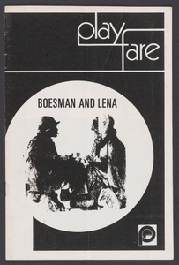 Theatre program for Boesman and Lena