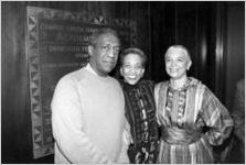 Bill Cosby, Camille Hanks Cosby, and Johnnetta B. Cole