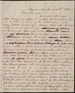 Letter from Deborah Weston, Weymouth, [Mass.], to Emma Forbes Weston, March 16, 1842