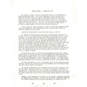 Court session, April 21, 1977.