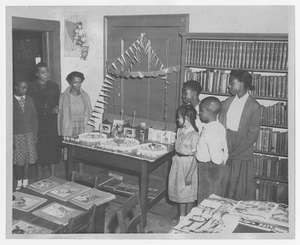 Photograph from vacation reading club at the Athens Regional Library, Dunbar Branch, Athens, Georgia, 1955 Summer