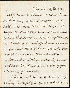 Letter from Charles Calistus Burleigh, Florence, to Samuel May, Jr., [April] 10 [18]63