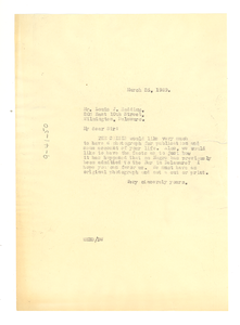 Letter from W. E. B. Du Bois to Louis J. Redding