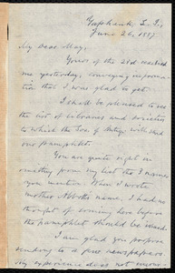 Letter from Oliver Johnson, Yaphank, L.I., [N.Y.], to Samuel May, June 26, 1887