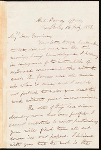 Letter from Oliver Johnson, New York, [N.Y.], to William Lloyd Garrison, 16 July, 1863