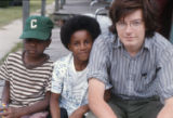 "James ""Son"" Thomas, Leland, Mississippi and Yale. Archie Green and Ray Lum, festival in Washington, D.C. 1974. (Son Thomas and Archie Green)"