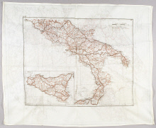 Map, Italy, United States Army Air Forces, Louis Purnell