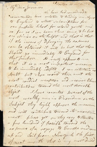 Letter from Arnold Buffum, Boston, [Massachusetts], to William Lloyd Garrison, 1832 [October] 10