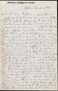 Letter from Richard Davis Webb, Dublin, to Samuel May, March 10, 1859