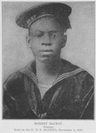 Robert McCray; Seaman; Lost on the U.S.S. Alcedo, November 5, 1917