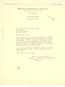 Letter from Bethune-Cookman College to Crisis