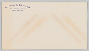 Envelope for the Cathrell Printing Company