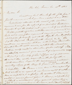 Letter from Johnn Bishop Estlin, Bristol, [England], to Richard Davis Webb, 1845 November 13