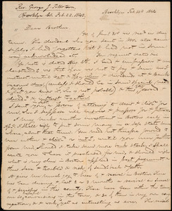 Letter from George Jeffrey Tillotson, Brooklyn, [Conn.], to Amos Augustus Phelps, 1842 Feb[ruary] 22nd