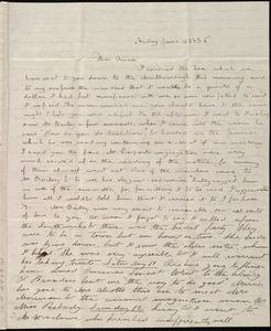 Letter from Deborah Weston, [Boston?, Mass.], to Anne Warren Weston, Friday, June 10 [through Friday, June 17], 1836