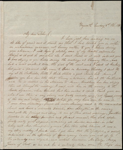 Letter from Lucia Weston, Weymouth, [Mass.], to Deborah Weston, Tuesday, 8th Feb. 1841
