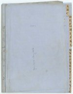 Correspondence - Letter book Volume II - index with name of sender