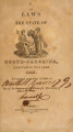Laws of North-Carolina [1820] Laws of the State of North-Carolina.