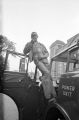 Thumbnail for Young African American man speaking through the PA system of a fire department truck after the bombing of 16th Street Baptist Church in Birmingham, Alabama.