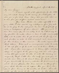 Letter from William Lloyd Garrison, Cambridgeport, [Mass.], to George William Benson, April 11, 1842