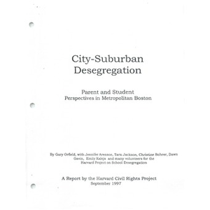 City - suburban desegregation: Parent and student perspectives in metropolitan Boston