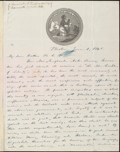 Letter from William Lloyd Garrison, Boston, [Mass.], to Henry Clarke Wright, June 1, 1846