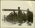 Photograph, A Platoon of African American Troops at Parade Rest at the Port of Oswego, N.Y., [n.d.].