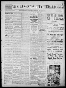 The Langston City Herald. (Langston City, Okla. Terr.), Vol. 7, Ed. 1, Saturday, May 7, 1898