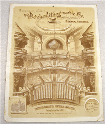 1888 Denver Lithographic Co. Calendar featuring The Tabor Grand Opera House