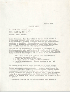 Letter from Daniel Hope III to Harry King, June 30, 1978
