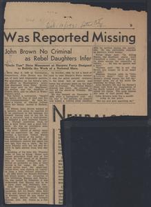 John Brown no criminal as rebel daughters infer