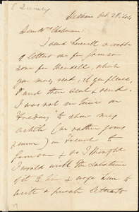 Letter from Edmund Quincy, Dedham, [Mass.], to Maria Weston Chapman, Oct. 28, [18]44
