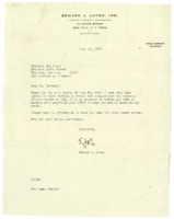 Letter from Edward J. Acton to Strivers Row Press